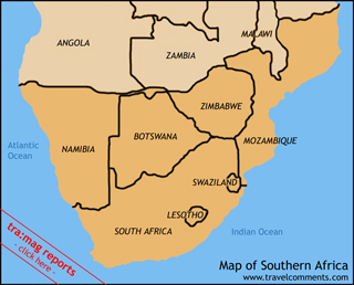 Travelcomments comprehensive online travel guide through south southernafricamap gumiabroncs Image collections